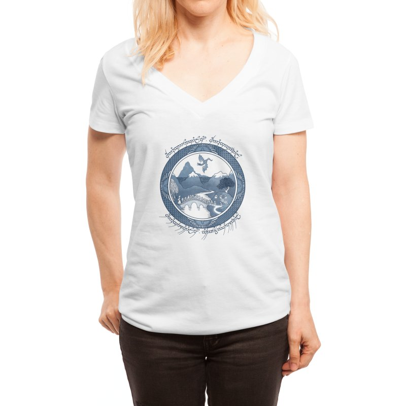 There And Back Again - Joe Wright Women's V-Neck by Threadless Artist Shop