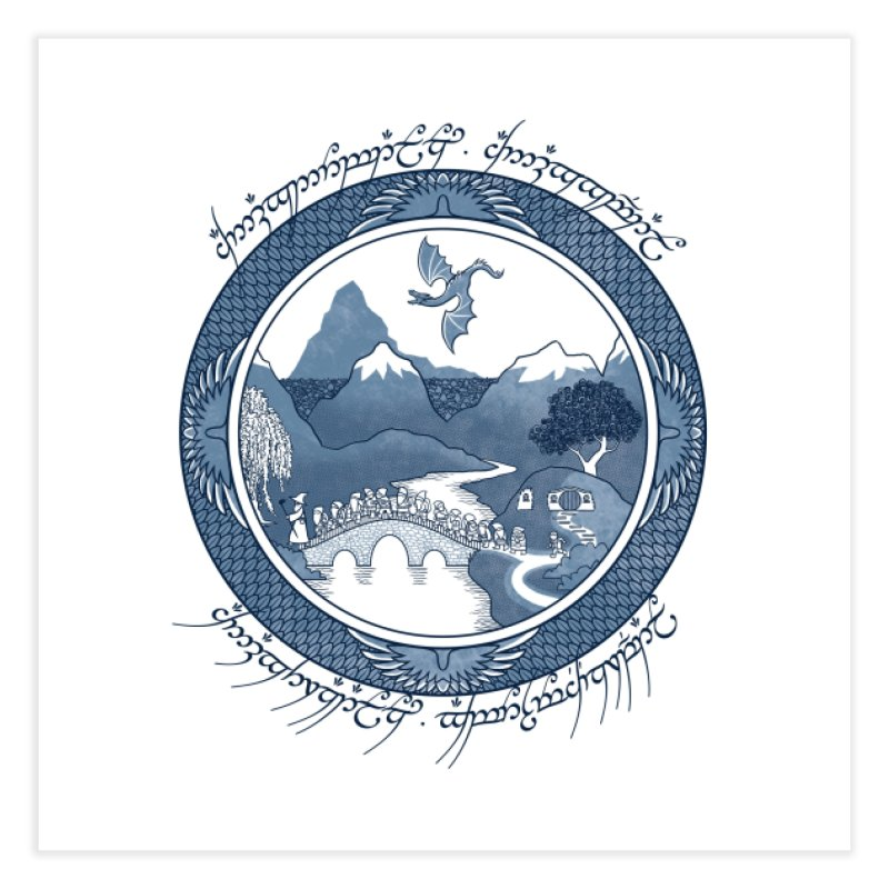 There And Back Again - Joe Wright Home Fine Art Print by Threadless Artist Shop