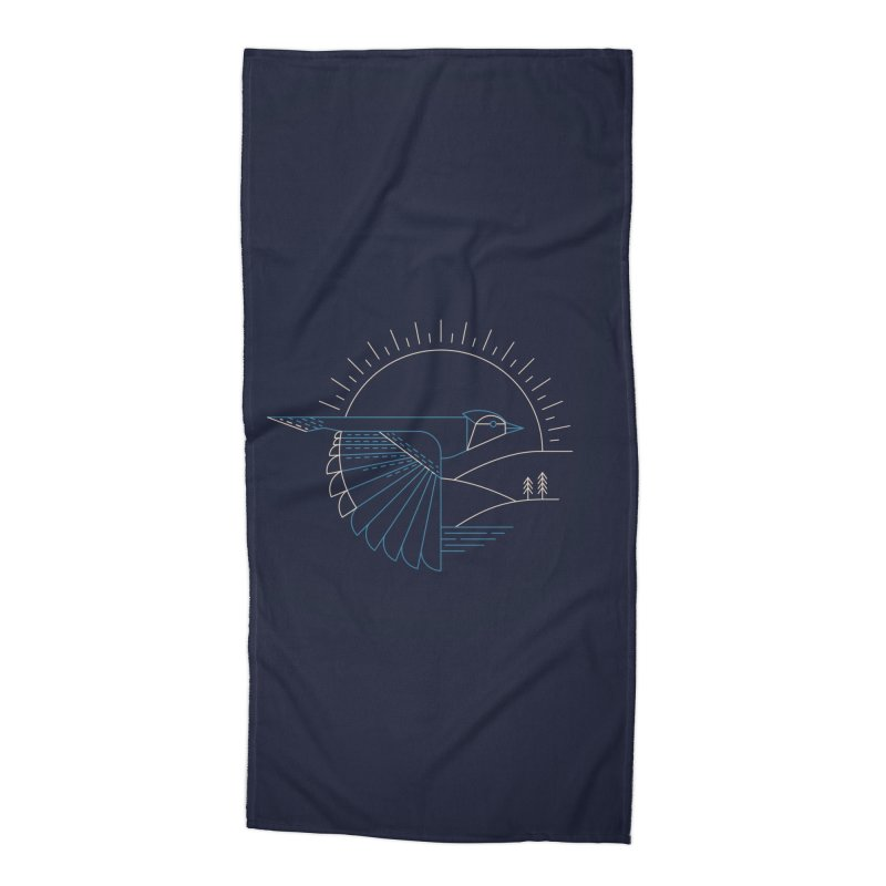 Blue Jay Accessories Beach Towel by Threadless Artist Shop