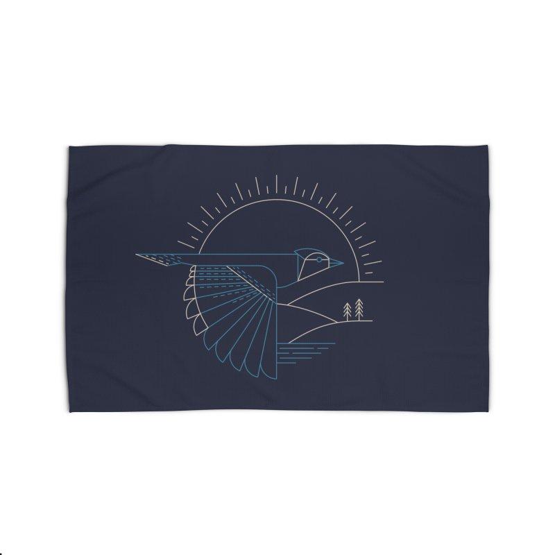 Blue Jay Home Rug by Threadless Artist Shop