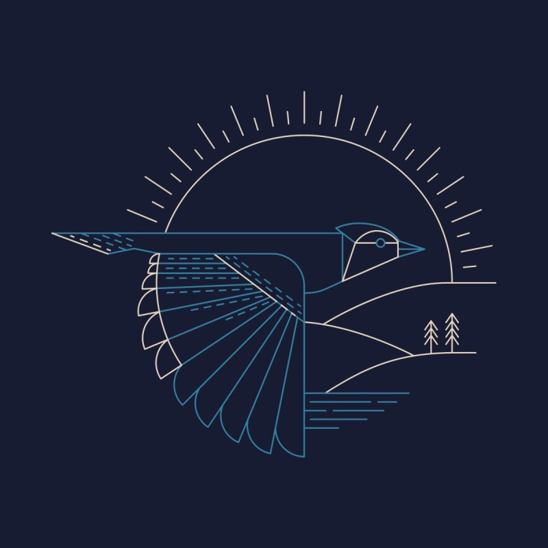 Blue Jay Men's T-Shirt by Threadless Artist Shop