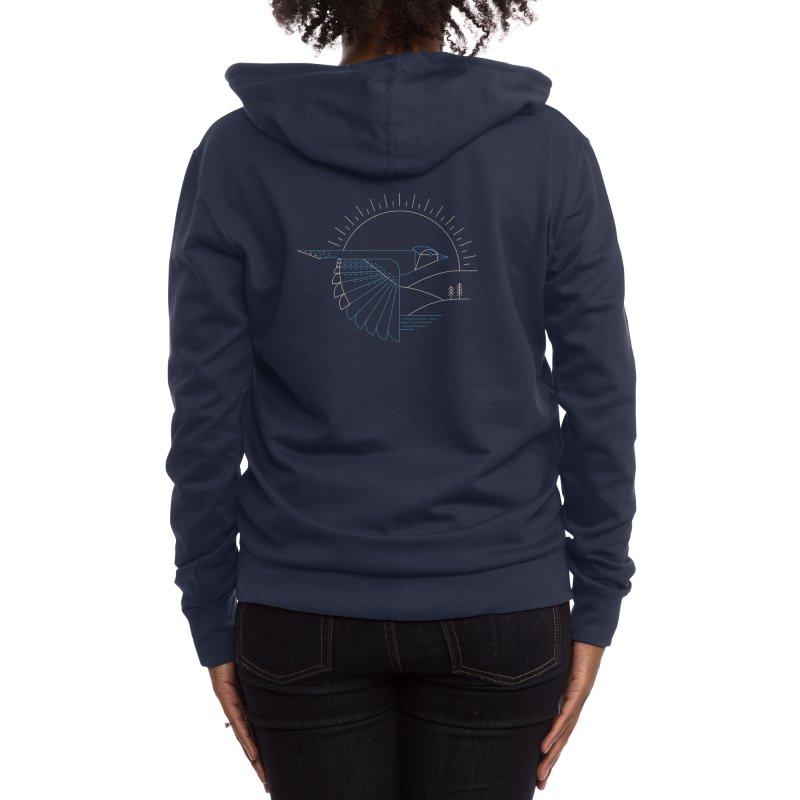 Blue Jay Women's Zip-Up Hoody by Threadless Artist Shop