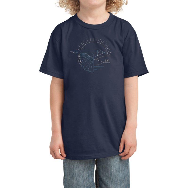Blue Jay Kids T-Shirt by Threadless Artist Shop