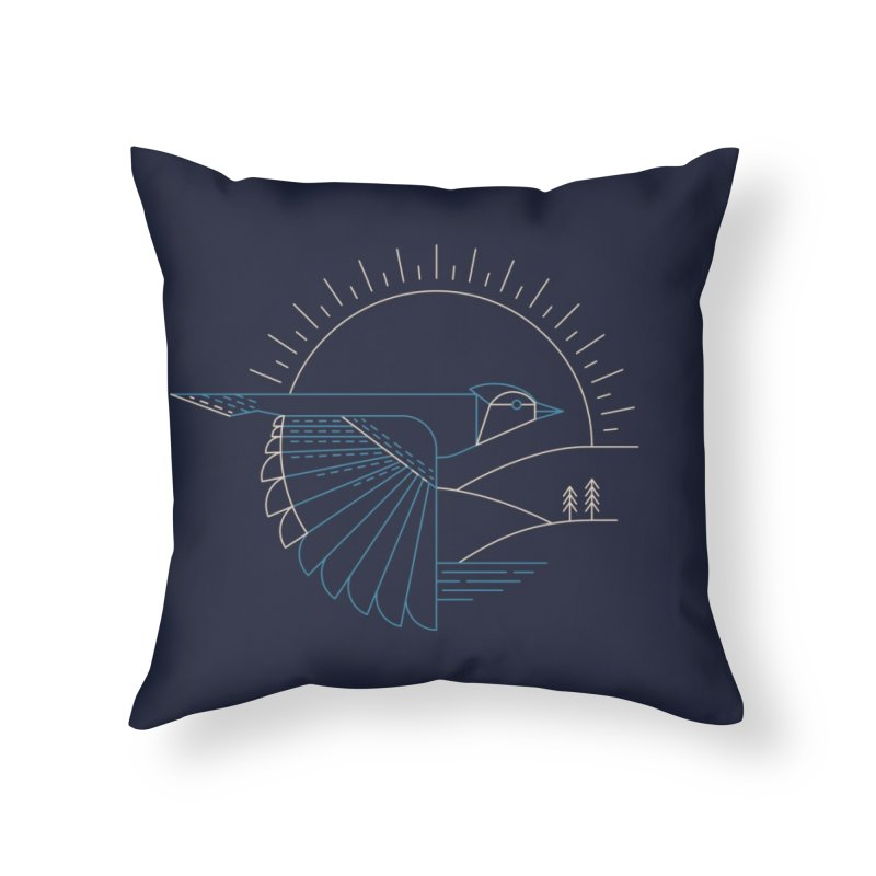 Blue Jay Home Throw Pillow by Threadless Artist Shop