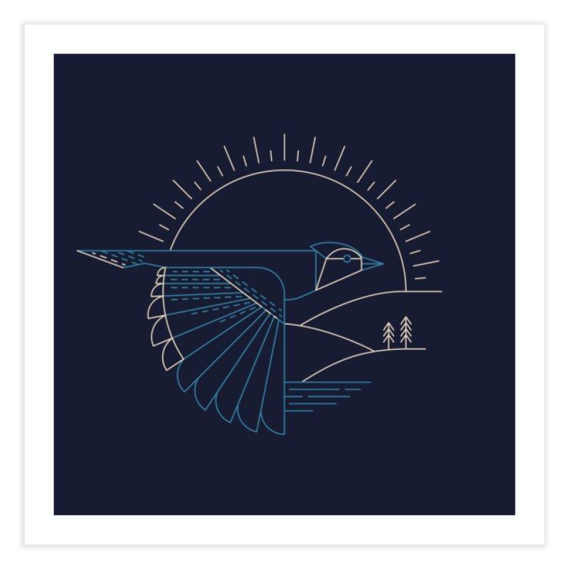Blue Jay Home Fine Art Print by Threadless Artist Shop