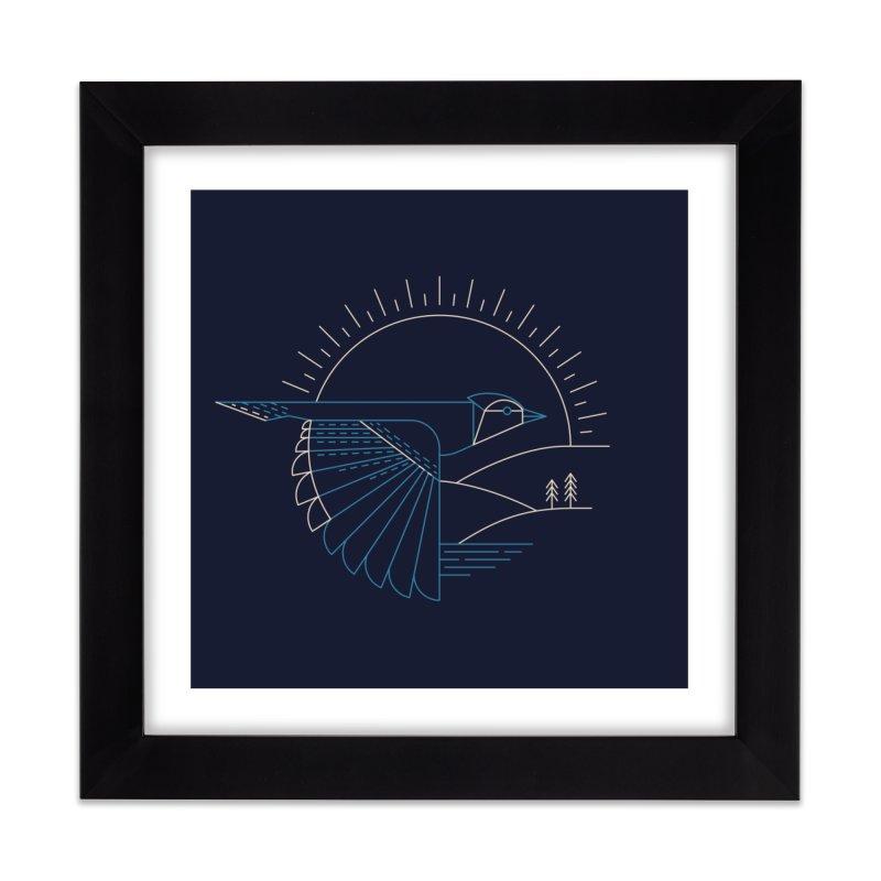 Blue Jay Home Framed Fine Art Print by Threadless Artist Shop