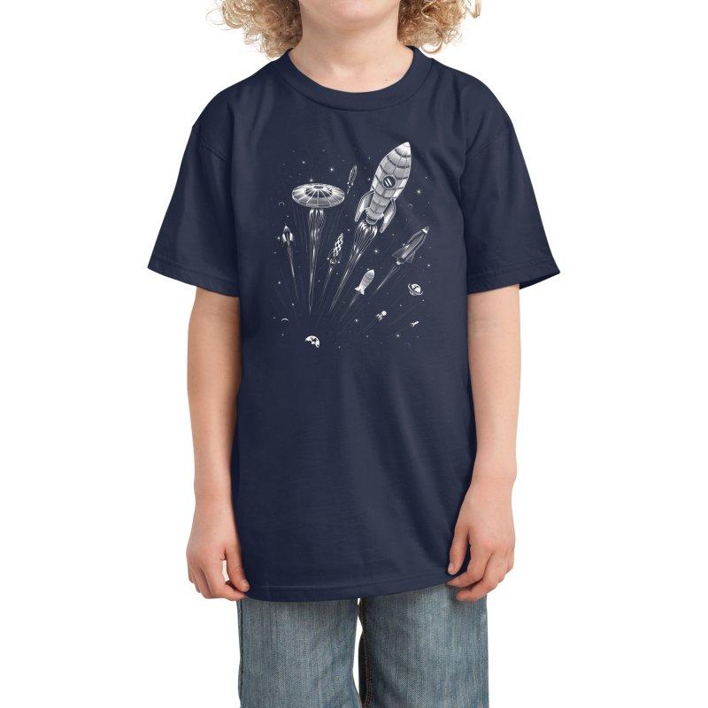 Space Race Kids T-Shirt by Threadless Artist Shop