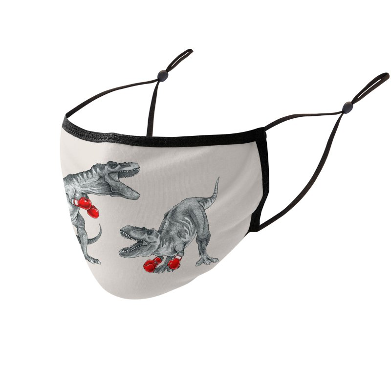 T-Rex Boxing Accessories Face Mask by Threadless Artist Shop