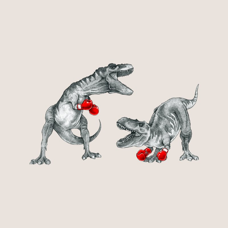 T-Rex Boxing Accessories Beach Towel by Threadless Artist Shop