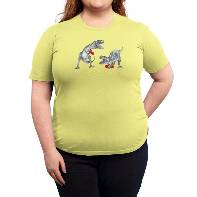 T-Rex Boxing Women's T-Shirt by Threadless Artist Shop