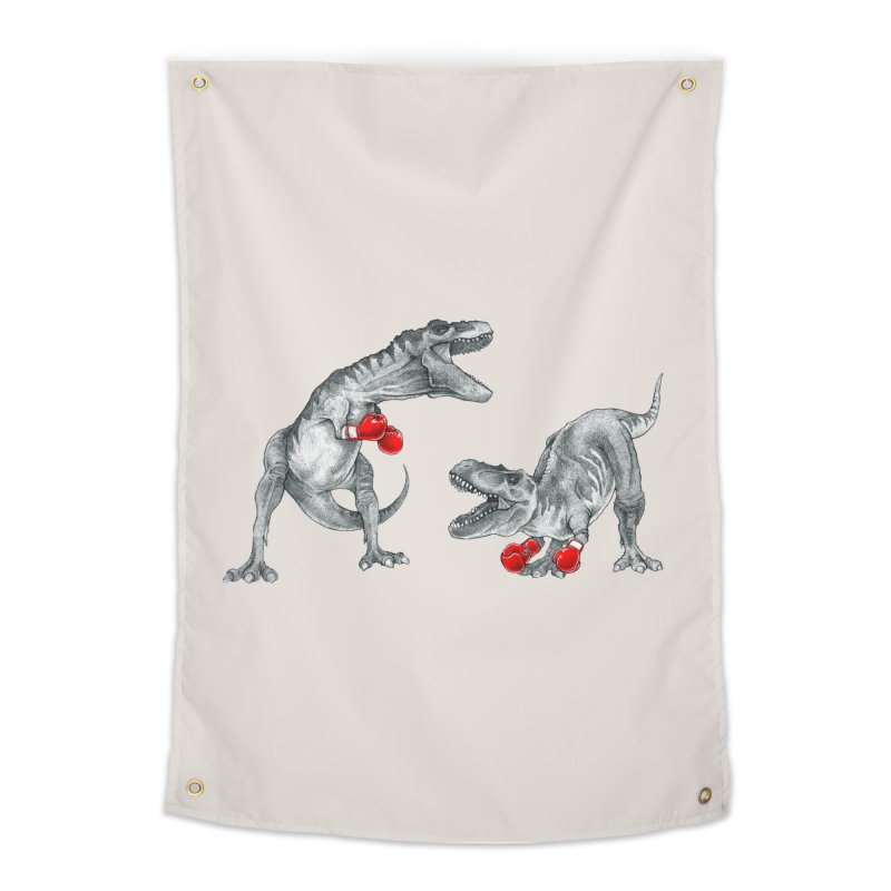 T-Rex Boxing Home Tapestry by Threadless Artist Shop