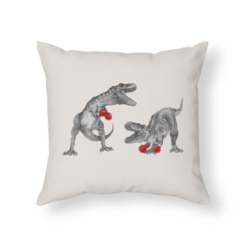 T-Rex Boxing Home Throw Pillow by Threadless Artist Shop