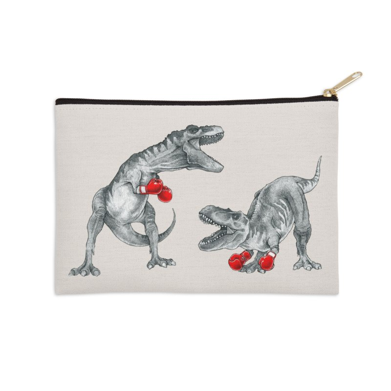 T-Rex Boxing Accessories Zip Pouch by Threadless Artist Shop