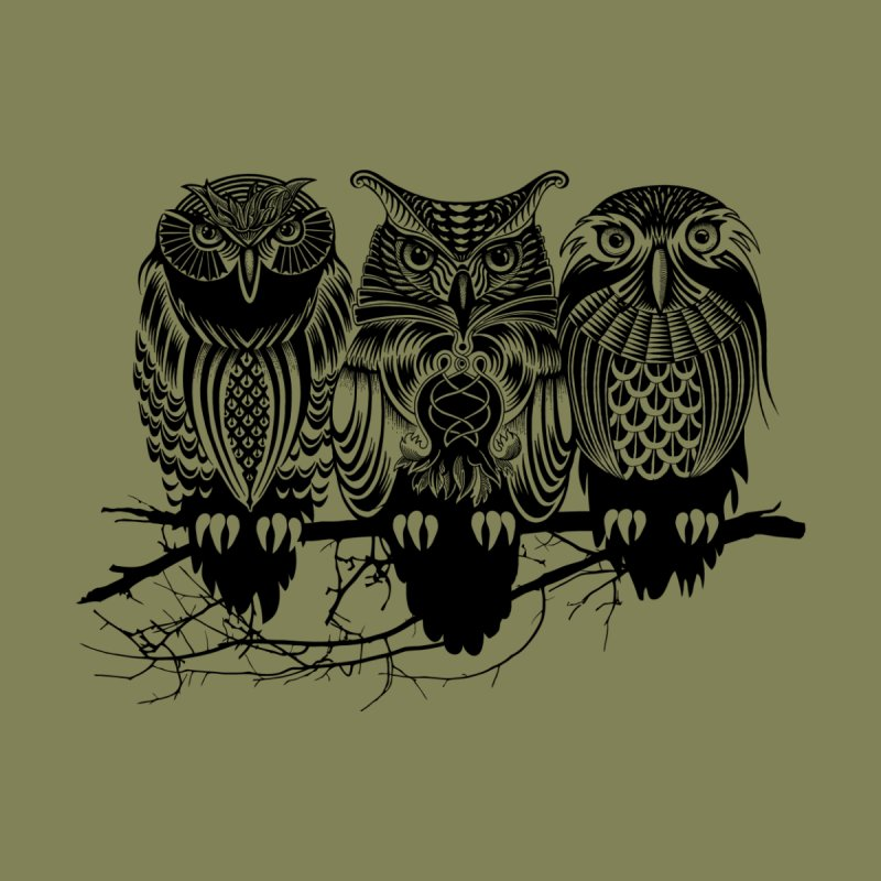Owls of the Nile Home Fine Art Print by Threadless Artist Shop