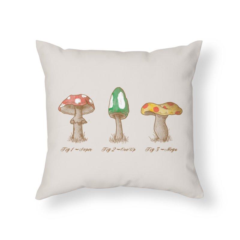 Mario Mycology Home Throw Pillow by Threadless Artist Shop