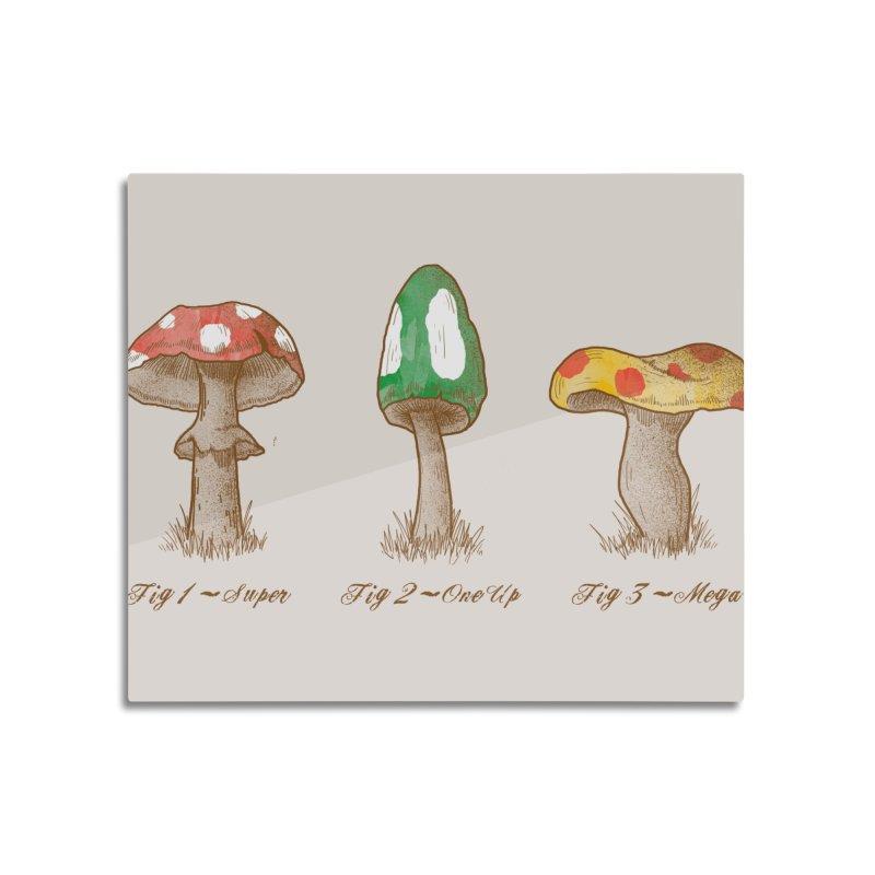 Mario Mycology Home Mounted Acrylic Print by Threadless Artist Shop