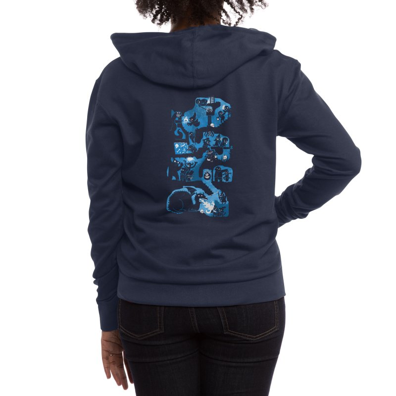 Dungeon Crawlers Women's Zip-Up Hoody by Threadless Artist Shop