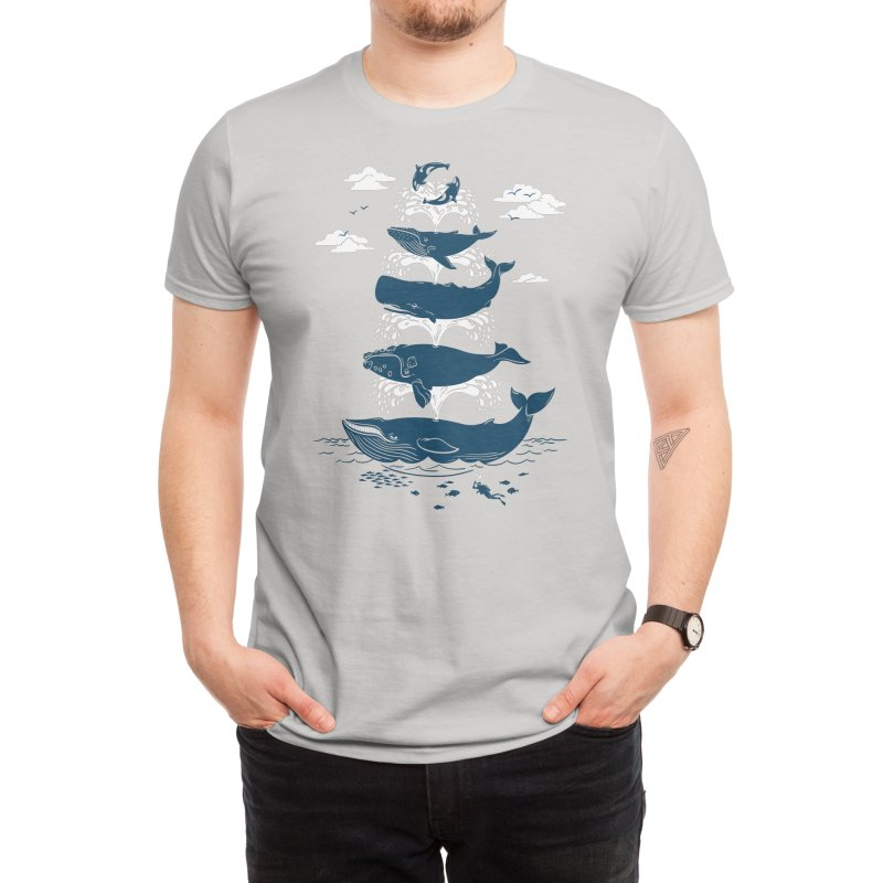 Whale of a Time - Christopher Phillips Men's T-Shirt by Threadless Artist Shop