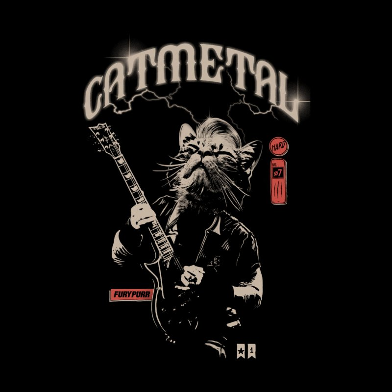 Catmetal Men's Longsleeve T-Shirt by Threadless Artist Shop