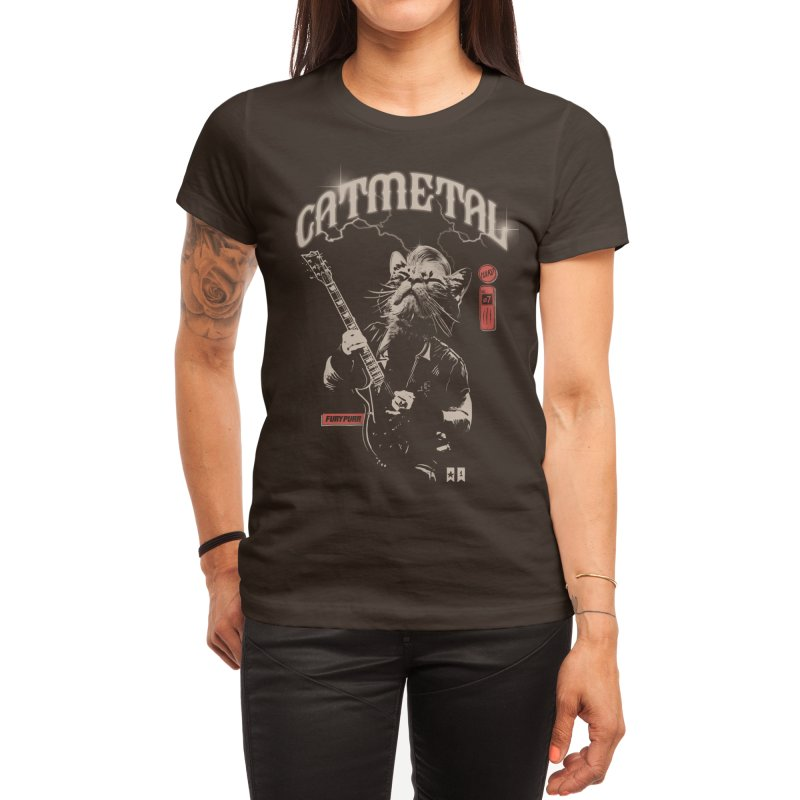 Catmetal Women's T-Shirt by Threadless Artist Shop