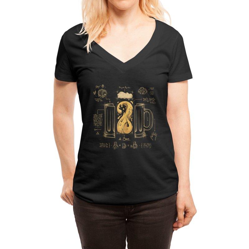 Le Beer (Elixir of Life) Women's V-Neck by Threadless Artist Shop