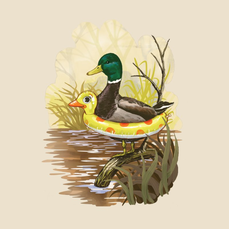Duck in Training Home Mounted Aluminum Print by Threadless Artist Shop