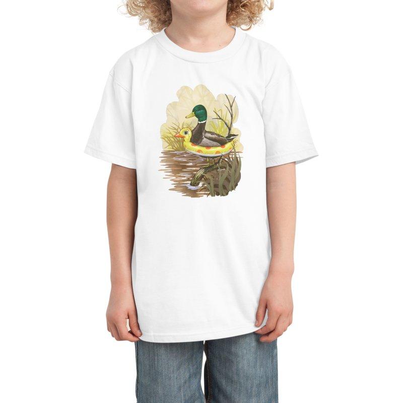 Duck in Training Kids T-Shirt by Threadless Artist Shop