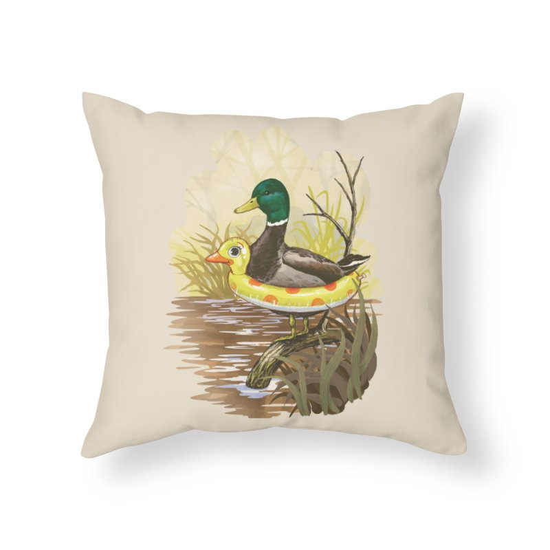 Duck in Training Home Throw Pillow by Threadless Artist Shop
