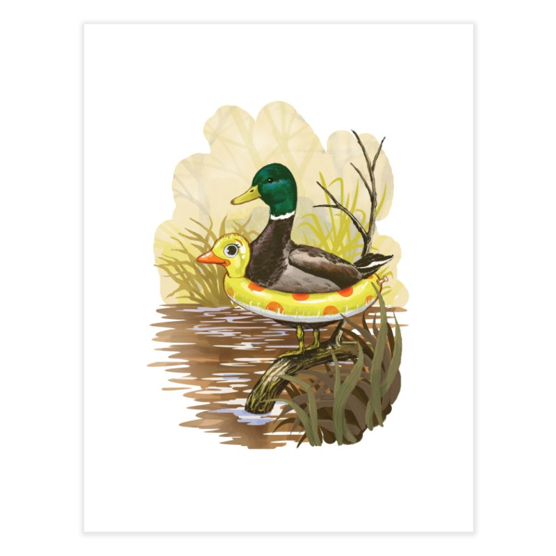 Duck in Training Home Fine Art Print by Threadless Artist Shop