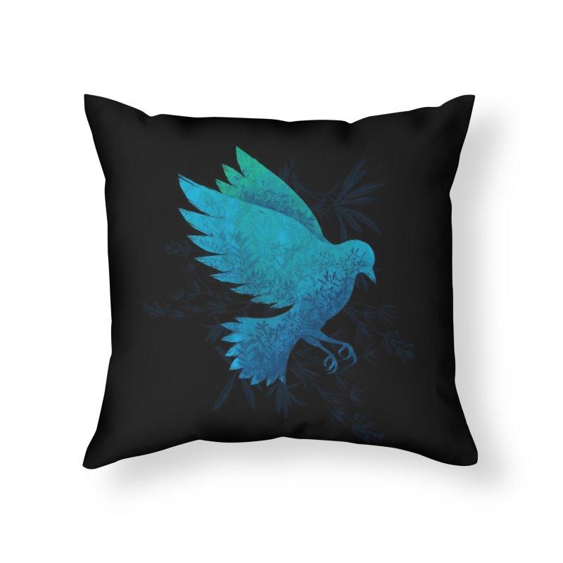 Birdy Bird Home Throw Pillow by Threadless Artist Shop
