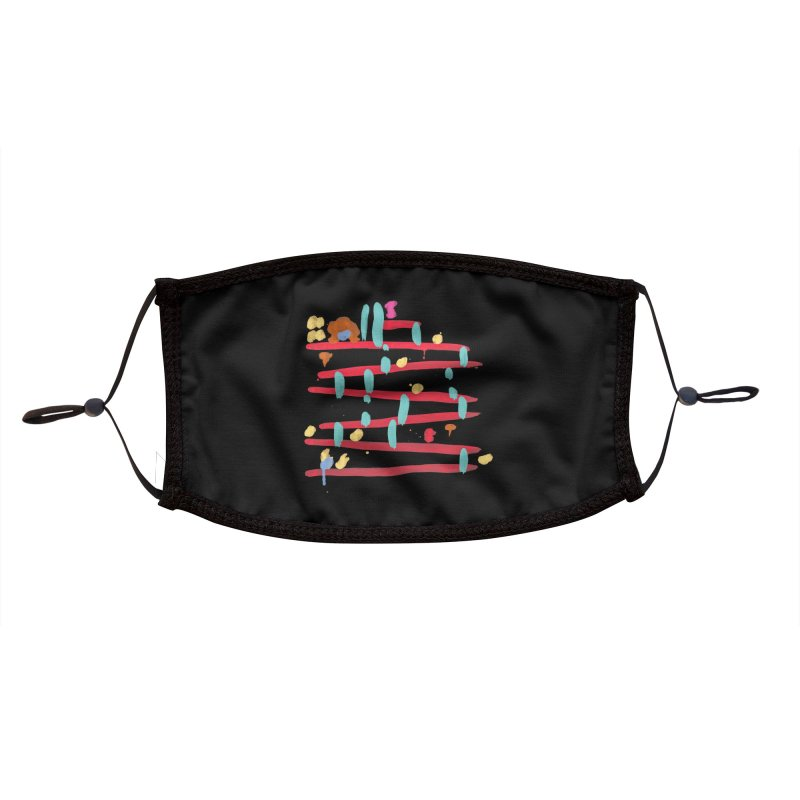 Arcade Expressionism Accessories Face Mask by Threadless Artist Shop