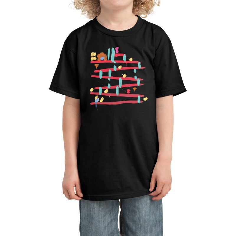 Arcade Expressionism Kids T-Shirt by Threadless Artist Shop