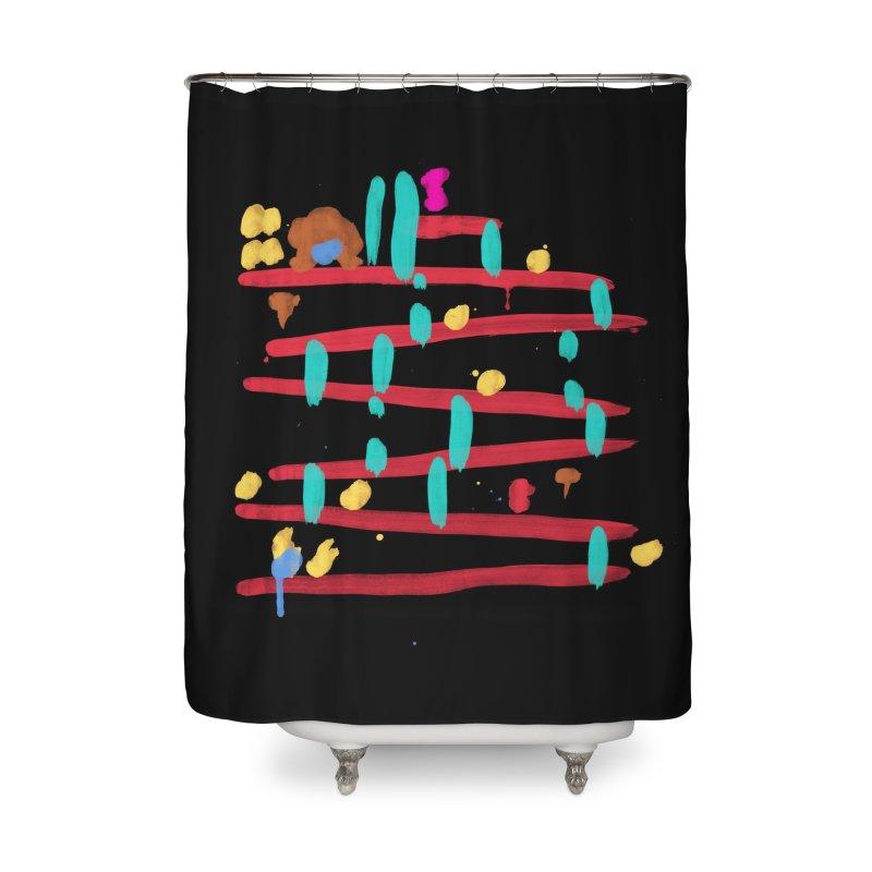 Arcade Expressionism Home Shower Curtain by Threadless Artist Shop