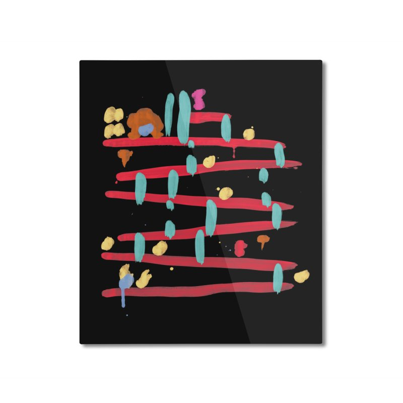 Arcade Expressionism Home Mounted Aluminum Print by Threadless Artist Shop