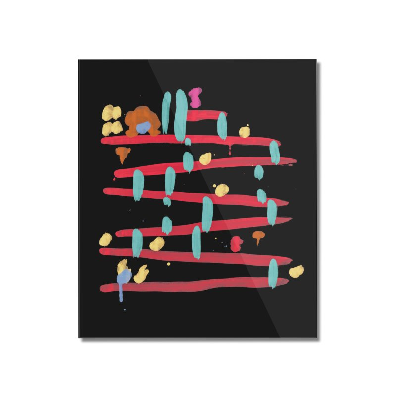 Arcade Expressionism Home Mounted Acrylic Print by Threadless Artist Shop
