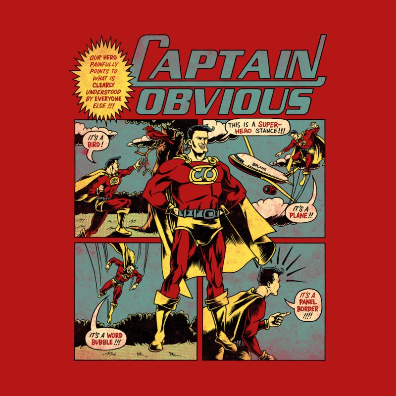 Captain Obvious! Men's Zip-Up Hoody by Threadless Artist Shop