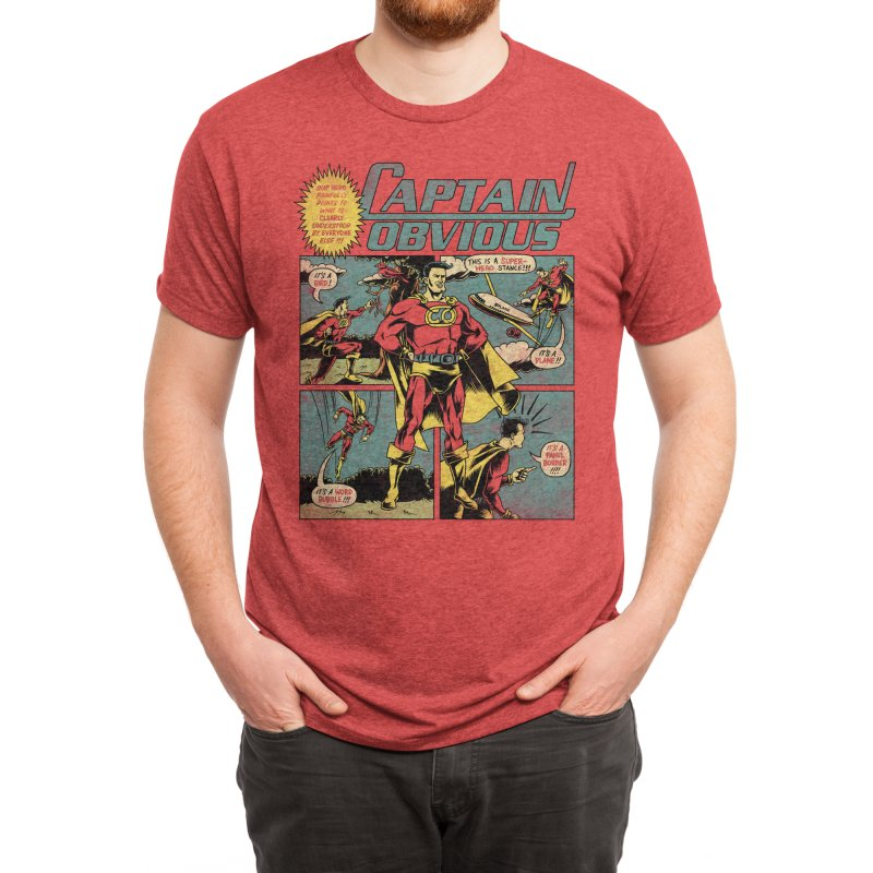 Captain Obvious! Men's T-Shirt by Threadless Artist Shop