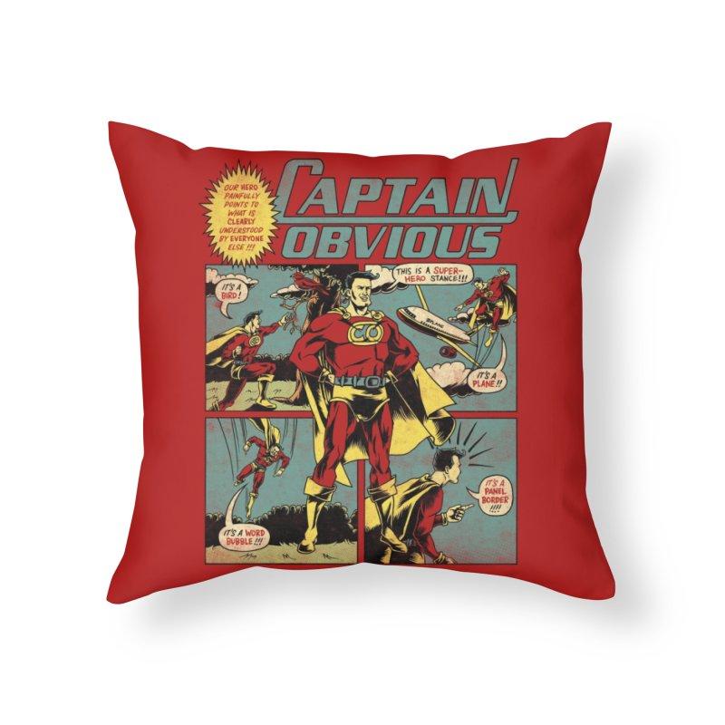 Captain Obvious! Home Throw Pillow by Threadless Artist Shop