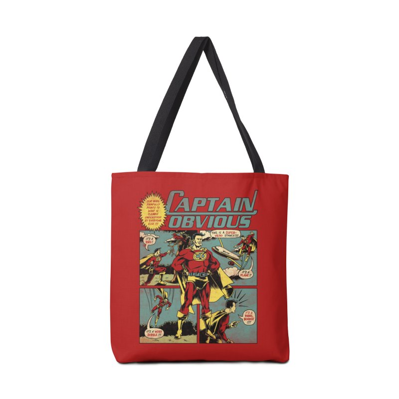 Captain Obvious! Accessories Bag by Threadless Artist Shop