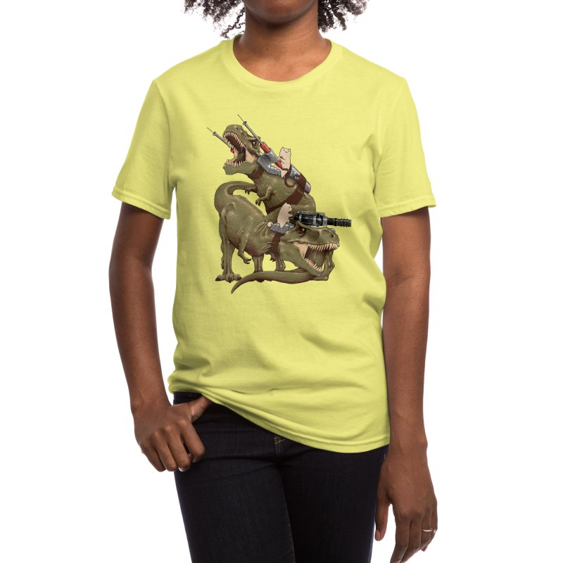 Cats Riding T-Rexs! Women's T-Shirt by Threadless Artist Shop