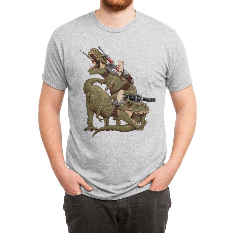 Cats Riding T-Rexs! Men's T-Shirt by Threadless Artist Shop