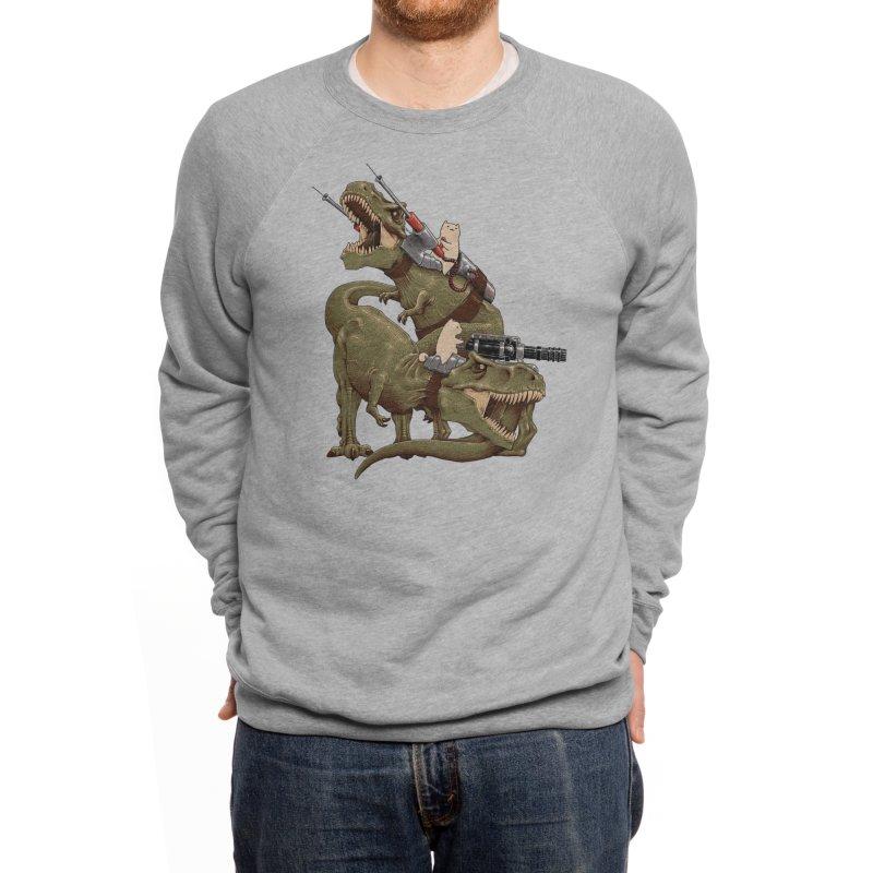 Cats Riding T-Rexs! Men's Sweatshirt by Threadless Artist Shop