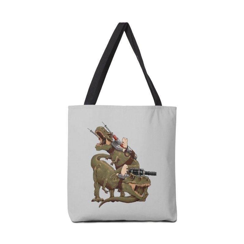 Cats Riding T-Rexs! Accessories Bag by Threadless Artist Shop