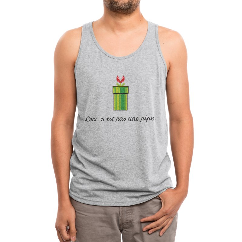 This Is Not a Pipe Men's Tank by Threadless Artist Shop