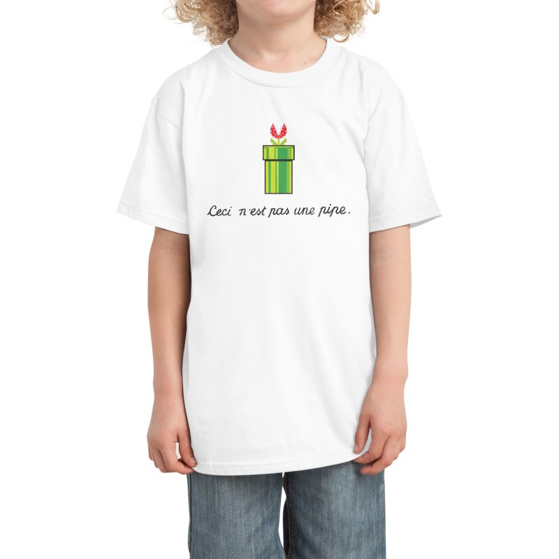 This Is Not a Pipe Kids T-Shirt by Threadless Artist Shop