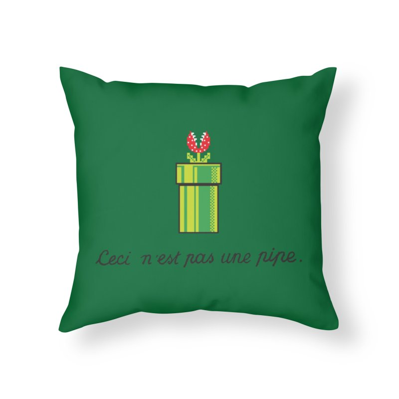 This Is Not a Pipe Home Throw Pillow by Threadless Artist Shop