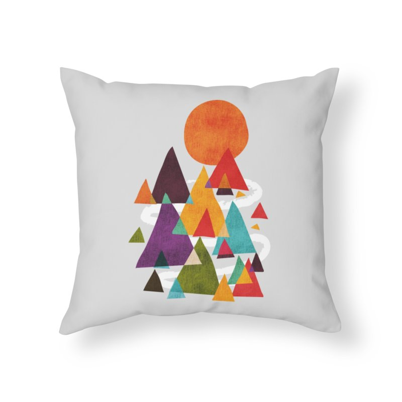The Mountains are Calling Home Throw Pillow by Threadless Artist Shop