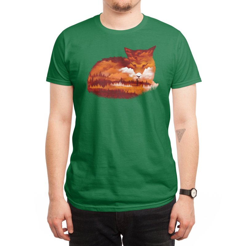 The Girl in the Red Forest Men's T-Shirt by Threadless Artist Shop
