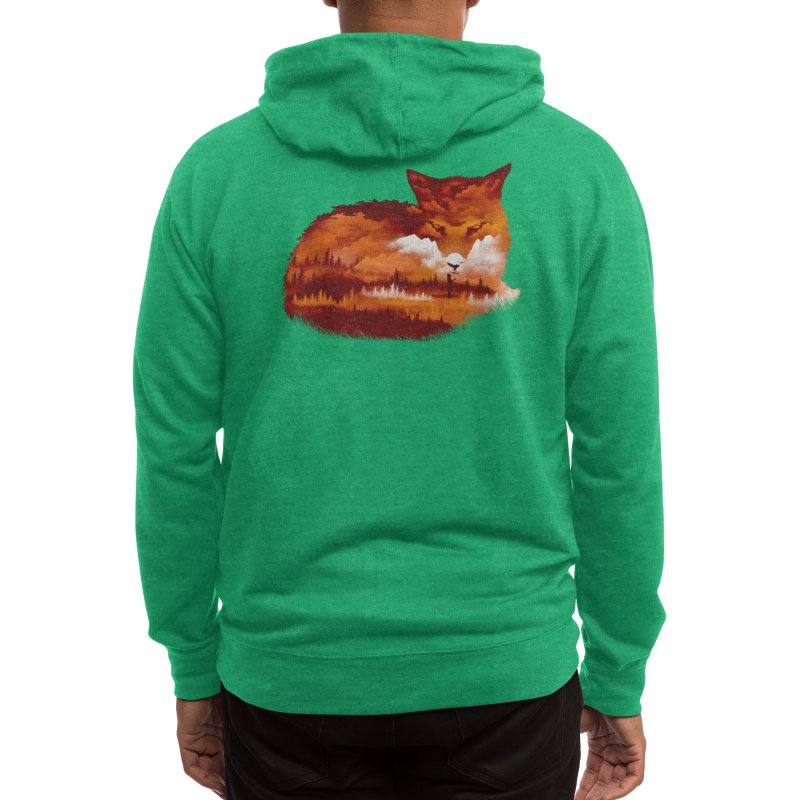 The Girl in the Red Forest Men's Zip-Up Hoody by Threadless Artist Shop