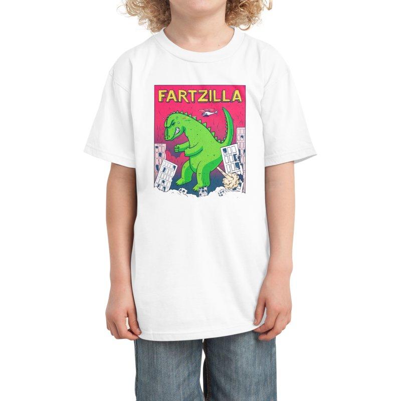 Fartzilla Kids T-Shirt by Threadless Artist Shop